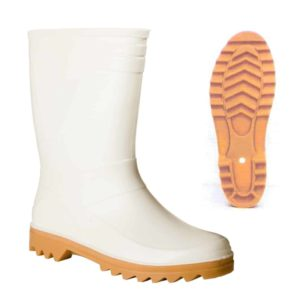 White Short / Half Length Wellington Boots