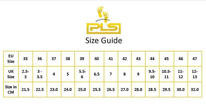 PLS Size Chart