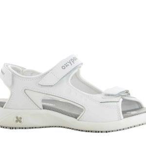 Oxypas Olga Leather Nursing Sandal with Anti-slip and Anti-static EN ISO 20347 OB SRC ESD