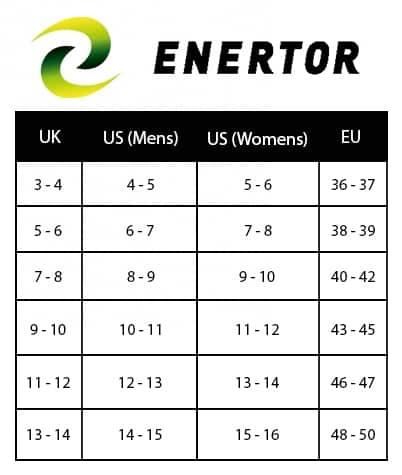 Enertor Size Chart