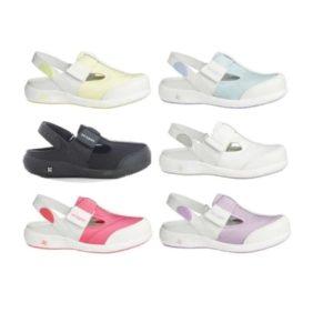 Oxypas Move Anais Leather and Lycra Nursing Shoes for Sore Feet EN ISO 20347 OB SRC ESD