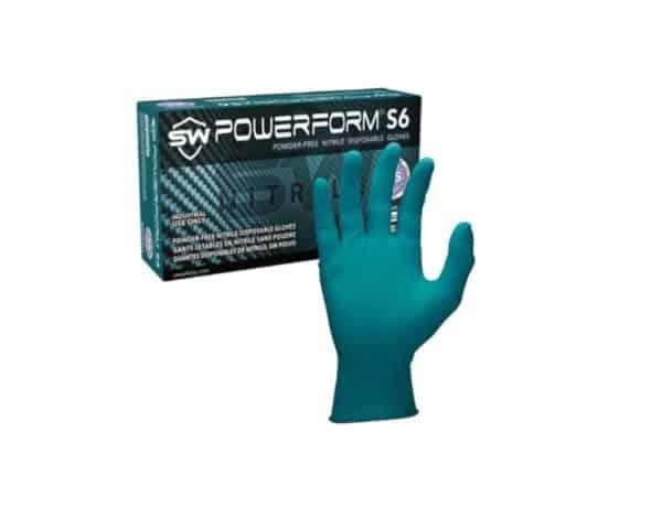 Powerform S6 Powder-free Nitrile Disposable Gloves EcoTek Biodegradable
