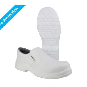 FS510 S2 SRC Washable, White Metal-Free White Safety Shoes with Composite Toe Protection