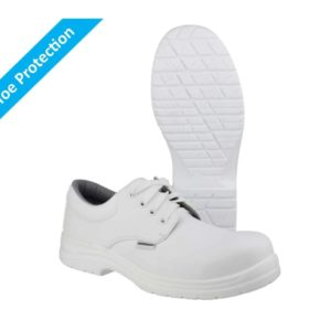 FS511 S2 SRC Washable, White Lace-up Metal Free Safety Shoes with Composite Toe Protection