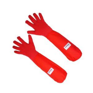 Scilabub® Nomex® 7154C Autoclave Gauntlet Gloves in Red. Safe & Comfortable