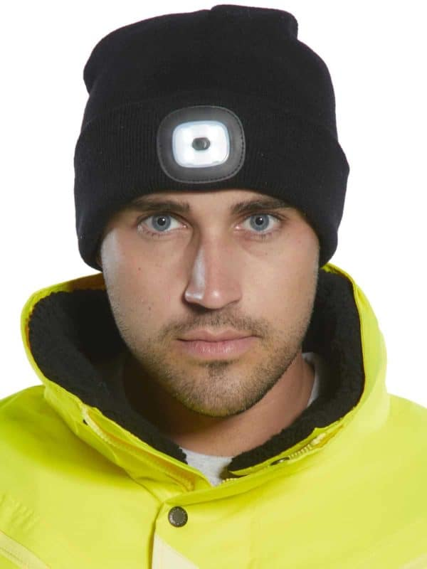 LED Headlight Beanie Hat - USBRechargeable