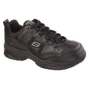 Men: 'Soft Stride'  by Skechers For Work SK77013EC SB FO SRC Slip-resistant, Waterproof Leather Shoe with Composite Toecap in Black by Skechers For Work