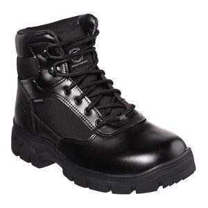 Men: 'Wascana' SK77160EC WP OB SRA Slip-resistant, Waterproof Leather Boot in Black by Skechers For Work