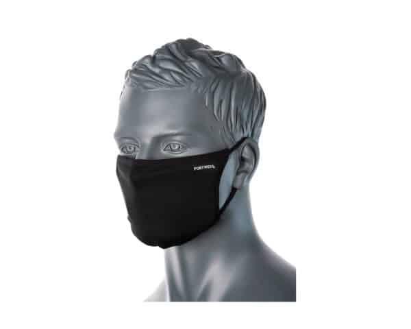 CV30 3 Ply Reusable Face Mask Black