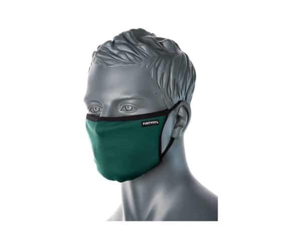 CV30 3 Ply Reusable Face Mask Bottle Green