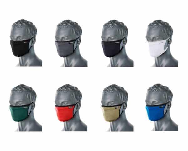 CV30 3 Ply Reusable Fabric Face Masks Assorted Colours