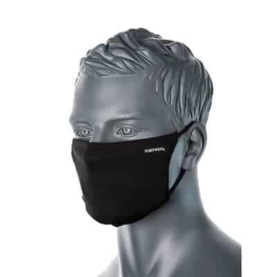 CV33 Anti-Microbial Face Masks Black