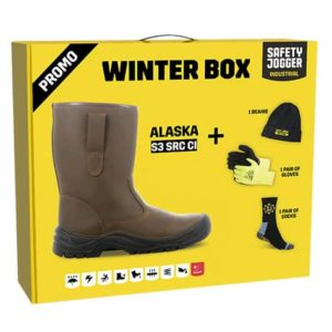 Safety Jogger Winter Box – 'Alaska' Warm-Lined Boots S3 CI SRC, with Complementary Hat, Gloves & Socks