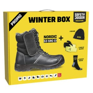 Safety Jogger Winter Box – 'Nordic' Warm-Lined Boots S3 CI SRC, with Complementary Hat, Gloves & Socks