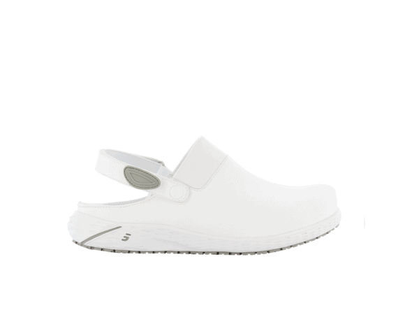 Dany Clogs for Nurses in white with grey