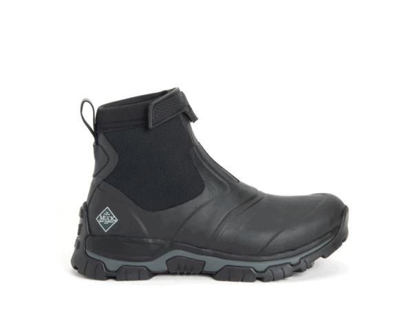 Men's Muck Boots Apex Zip Short Boots in Black