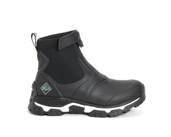 Women's Muck Boots Apex Zip Short Boots in Black