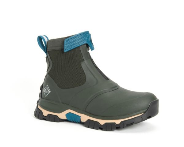 Womens Apex Zip Muck Boots Moss Green