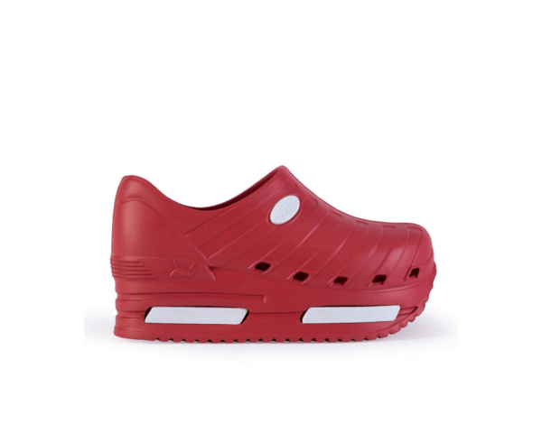 Elevate Shoes for Nurses with Added Height in Strawberry Red