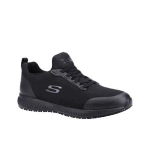 Skechers For Work Men's 'Squad SR Myton' SK200051EC Slip-resistant Professional Shoe in Black EN ISO 20347: 2012; OB FO SRC