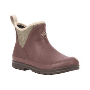 Women's Muck Boots Originals Pull-on Ankle Boots in Rum Raisin with Herringbone