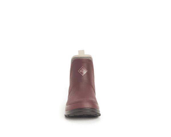 Muck Boots Originals Ankle Rum Raisin Herringbone Front